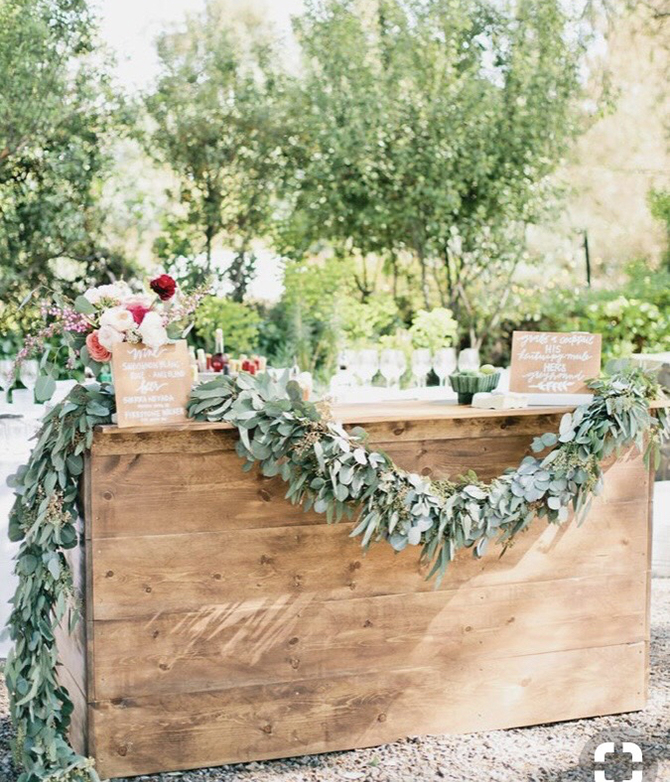 Wedding Furniture Hire - Bar - Off The Rails Designs