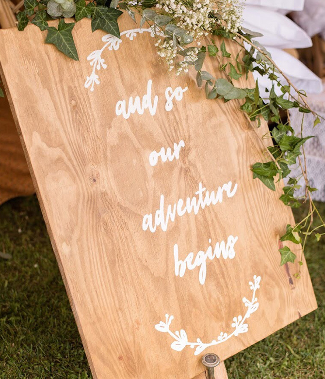 Wedding Furniture Hire - Signs - Off The Rails Designs